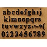 Press In Letters and Numbers Stone Concrete Stamps - Lowercase Traditional Typeface
