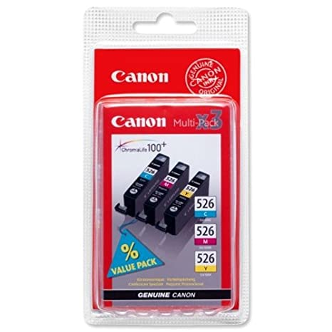 Canon CLI526CMY Multipack Cartouches d'encre