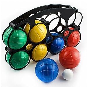 Boules Boccia Set 8 Balls Bowls with Carry Bag