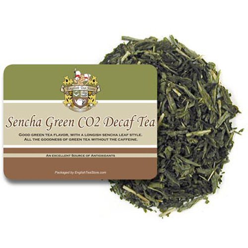 English Tea Store Loose Leaf, Sencha Green CO2 Decaffeinated Tea Pouches, 4 Ounce by English Tea Store