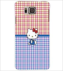PrintDhaba Kitty D-5041 Back Case Cover for SAMSUNG GALAXY ALPHA (Multi-Coloured)