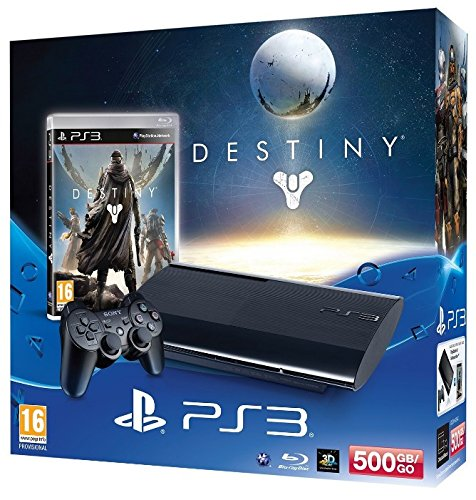 PlayStation 3 - Konsole Super Slim 500 GB (inkl. DualShock 3 Wireless Controller + Destiny)