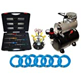 MASTER Airbrush S69 Studio Set with the TC-20T Air Compressor with tank