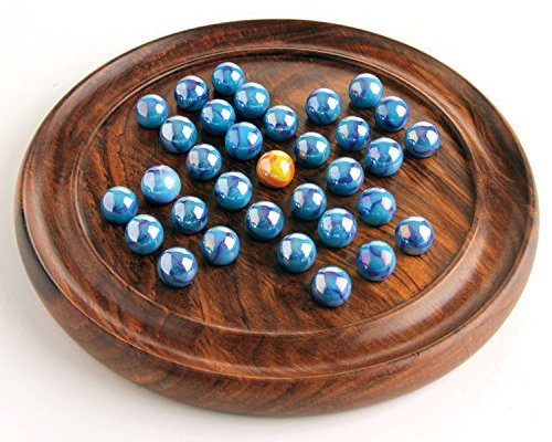 House of Marbles Wooden Solitaire Coffee Table Board Game Vintage Entertainment