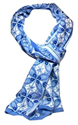 Anokhi 100% Cotton Voile Blue Mosiac Fashion Scarf