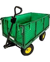 TecTake Chariot de transport jardin remorque à main Charrette à bras Chariot a bras 550kg voiturette voiture