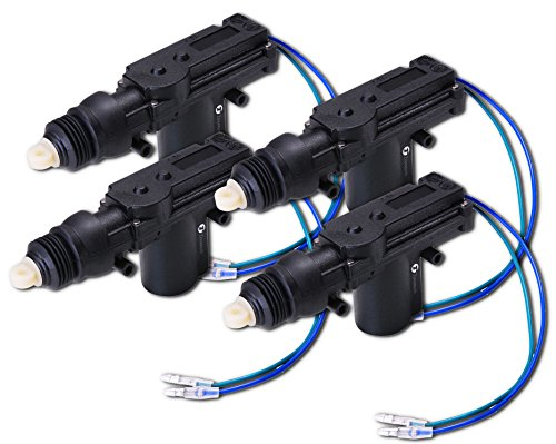 Zone Tech 4-Pack Universal High Power Door Lock Actuator - Premium Quality Heavy Duty Durable High Power Door Lock Actuator (Electric Door Poppers compare prices)