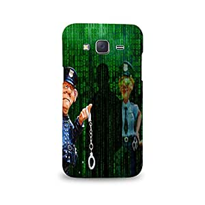 Mikzy Police Guy With Handcuffs Printed Designer Back Cover Case for Samsung J5