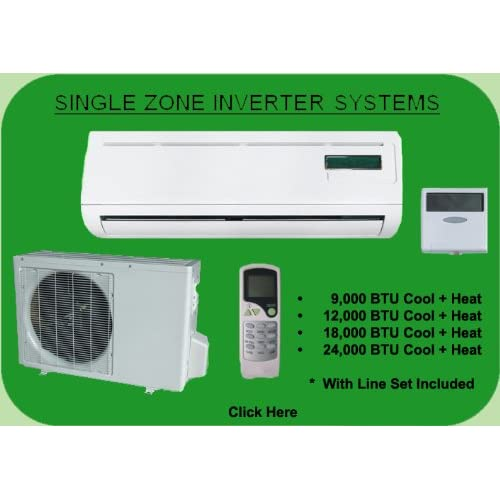 Pridiom 18,000 BTU Single Zone Inverter Mini Split AMS181HX