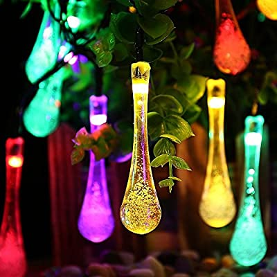 Goodia Solar LED Christmas Decorative String Lights 20 Leds Starry Lighting for Outdoor, Garden, Home, Patio, Wedding, Party, Christmas Tree and Holiday Decorations (Multi-color)