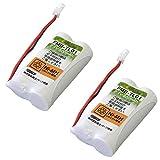 シャープ (Sharp) コードレス 子機用 充電池(N-141 / UBATN0141AFZZ同等品) 2個セット