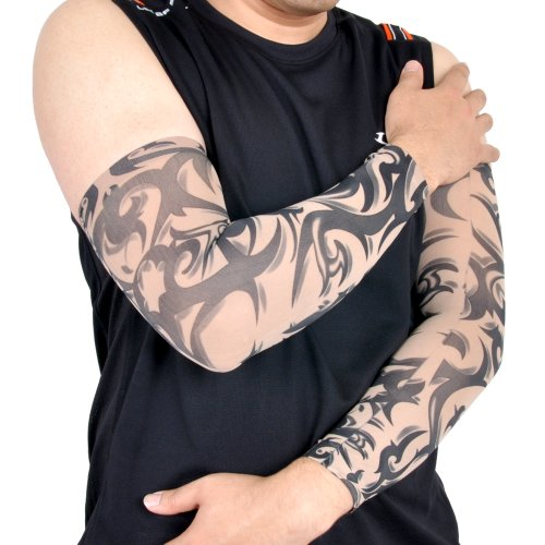 Tattoo ARM Sleeve Cover Cycling Sport Band Arm Warmer(No.010) Mesh Arm Warmers