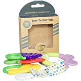 Teething Toys: Baby Infant And Toddler WITH Pacifier Clip / Teether Holder, Best For Sore Gums Pain Relief, Eco...