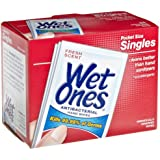 Wet Ones 4723 Antibacterial Moist Towelettes, 5 x 7-1/2, White, 1-Ply, 24 per Pack (Case of 10)