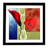RED FLOWERS WALL HANGING PHOTO FRAME