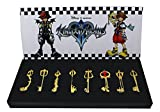 Kingdom Hearts Metal Keyblade Sword Weapon Set Of 8 (Gold Ver.)