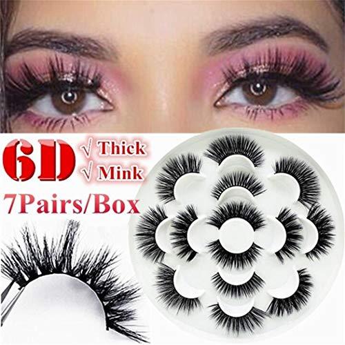 Deals on Kikole 7 Pair/Set Long Think Fake Eyelashes Makeup