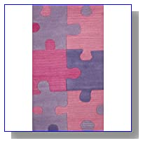 SI Area Rugs 1030 Sams Kids Area Rug, 3 by 5-Feet, Pink/Lavender