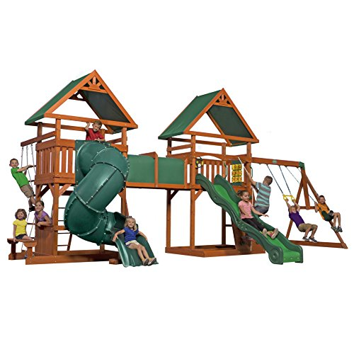 Backyard Discovery Grand Towers All Cedar Swing Set (Super Spiral Play Tower compare prices)
