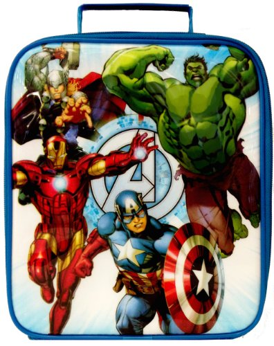 80514196f48f Cheap Marvel Avengers Assemble Lunch Bag   Iron Man   Hulk   Thor ...