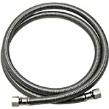 """Fluidmaster B6W48 Dishwasher Connector (includes 3/8"""" elbow), Braided Stainless Steel - 3/8"""" Female Compression Thread x 3/8"""" Female Compression Thread, 4 Ft. (48"""") Length"""