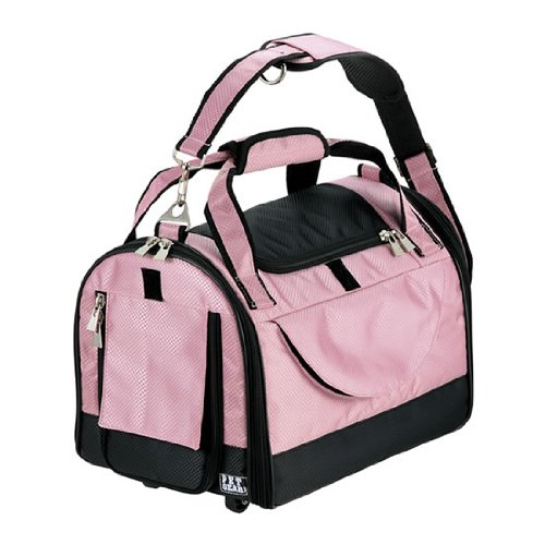 Pet Gear World Traveler with Wheels for Cats and Small Dogs, Pet Carrier, Small, Crystal Pink