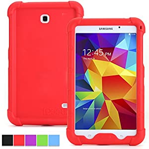 Samsung Galaxy Tab 4 8.0 Case - Poetic Samsung Galaxy Tab 4 8.0 Case [Turtle Skin Series] - [Corner/Bumper Protection] [Grip] [Sound-Amplification] Protective Silicone Case for Samsung Galaxy Tab 4 8.0 Red (3 Year Manufacturer Warranty From Poetic)