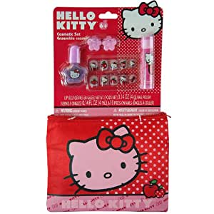6pc Sanrio Hello Kitty Clutch with Dress-up Nail Color Accessory Set
