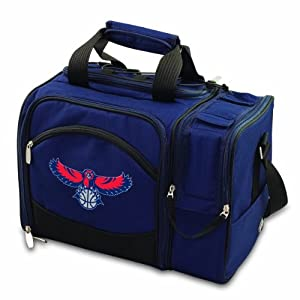 NBA Atlanta Hawks Malibu Insulated Shoulder Pack with Deluxe Picnic Service for Two by Picnic Time