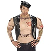 Macho Biker Man Adult Costume Standard One-Size