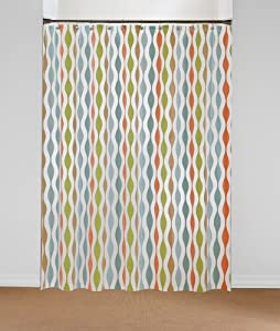 tides peva shower curtain coral