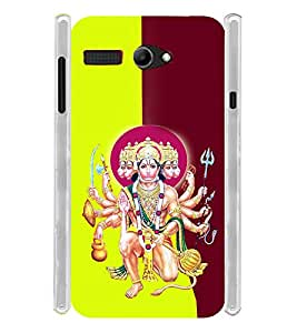 Lord Hanuman Bagwan Soft Silicon Rubberized Back Case Cover for Lava Iris Atom 2