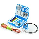 Littfun Professional Sewing Kit,cartoon makeup mirror,tape measure(Random Color Delivery)