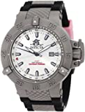Invicta Men's 1589 Subaqua Noma III Silver Dial Black Polyurethane Watch
