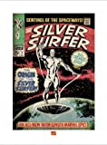 Posters: Silver Surfer Poster Art Print - The Origin, Marvel Comics (32 x 24 inches)