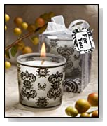 100 Damask Votive Candles Wedding Favors