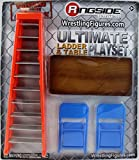 ULTIMATE LADDER & TABLE PLAYSET (ORANGE) - RINGSIDE COLLECTIBLES EXCLUSIVE TOY WRESTLING ACTION FIGURE ACCESSORY PACK