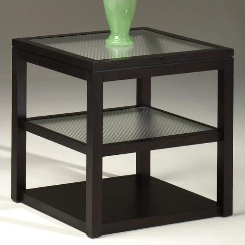 Cheap Hammary T1047520-00 Echo Rectangular End Table in Espresso (T1047520-00)