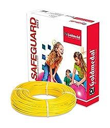 GOLDMEDAL 1.0Sq mm Fire Retardant Wire - 90m (Yellow)