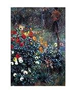 Especial Arte Lienzo Garden in the street Cortot, Montmartre Multicolor