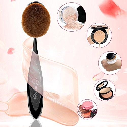 Details for Makeup Brushes BESTOPE 2016 est 10PCs Makeup Brush Set Soft Oval Toothbrush Foundation Eyeliner Blush Contour Brushes for Powder Cream Concealer Cosmetic Brush Set by TAYTHI