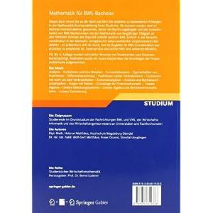 Mathematik für BWL-Bachelor: Schritt für Schritt mit ausführlichen Lösungen (Studienbücher Wirt
