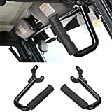 Hooke Road Black Steel Front GraBar Grab Handles for 1997-2006 Jeep Wrangler TJ & Unlimited