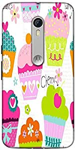 Snoogg Cup Cakes Designer Protective Back Case Cover For Motorola Moto X Style