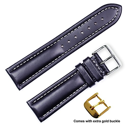debeer-brand-breitling-style-oil-tanned-leather-watch-band-silver-gold-buckle-black-22mm
