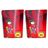 2 Pack Disney American Dragon Jake Long Spiral Notebook Holographic Promo Journal / Book