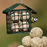 Heavy Duty Green Wire Steel Hanging Wild Garden Bird Fat Ball Suet Cake Feeder