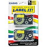 Casio Inc. XR9YW2S Tape Cassette for Label Printer