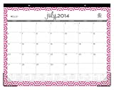 July 2014 - June 2015 Blue Sky Dabney Lee Hexagon Monthly Desk Pad Calendar 22 X 17