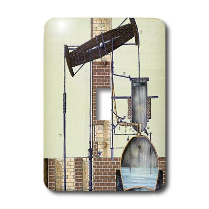 Lsp_83093_1 Danita Delimont - Engravings - Newcomen Steam Engine, Engraving - Hi13 Pri0191 - Prisma - Light Switch Covers - Single Toggle Switch front-393609
